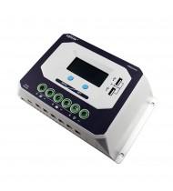 60A 12-24V Regulator / Controler solar cu USB 5V/2,4A, Incarcator Solar