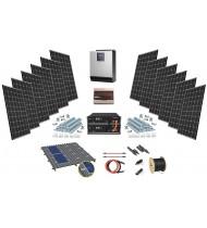 48V LiFePO 3kW-5kW Sistem Fotovoltaic cu tehnologie Litiu autonomie 4,8kW