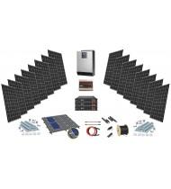48V LiFePO 4kW-5kW Sistem Fotovoltaic cu tehnologie Litiu autonomie 7kW